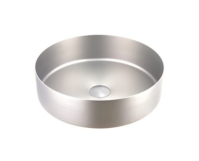 Stella Round Stainless Steel Basin (Brushed Nickel)>