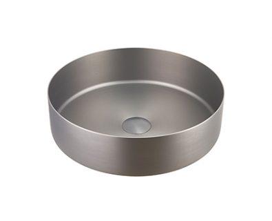 Stella Round Stainless Steel Basin (Gunmetal)>
