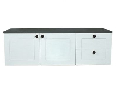 Oliver Wall Hung Vanity Cabinet 1200mm (Matte White)>