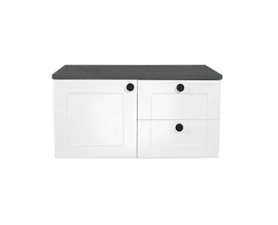 Oliver Wall Hung Vanity Cabinet 750mm (Matte White)>