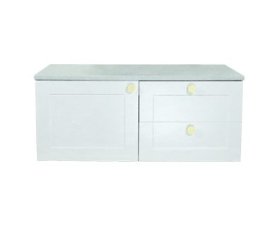 Oliver Wall Hung Vanity Cabinet 900mm (Matte White)>