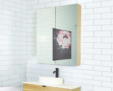 Osca Ceiling Height Timber Mirrored Cabinet 750mm>