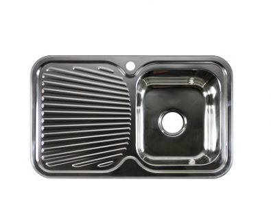 Lava Single Bowl Sink with Drainer (Right)>