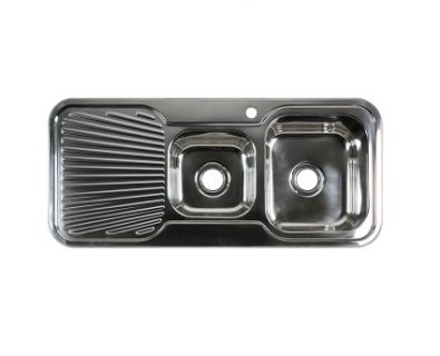 Lava 1 3/4 Bowl Sink with Drainer (Right)>