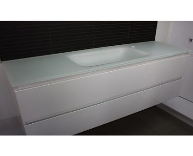 Essence Matte White Glass Vanity Top 1200mm>