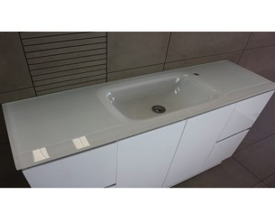 Essence White Glass Vanity Top 1200mm>