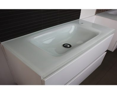 Essence White Glass Vanity Top 750mm>