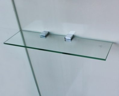 400x120mm Glass Corner Shelf>