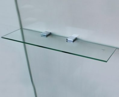 600x120mm Glass Corner Shelf>