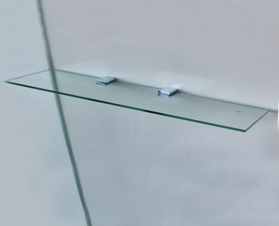 800x120mm Glass Corner Shelf>