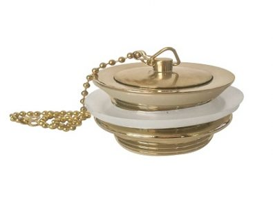 Bath Plug and Waste Without Overflow (Brushed Brass)>