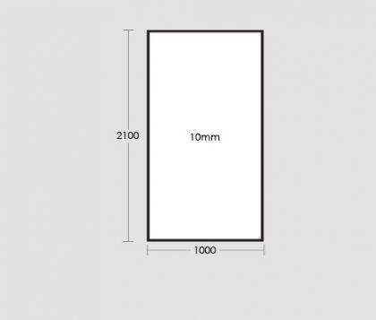 1000mm Frameless Glass Panel Tech