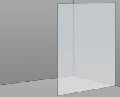 1000mm Frameless Glass Panel>