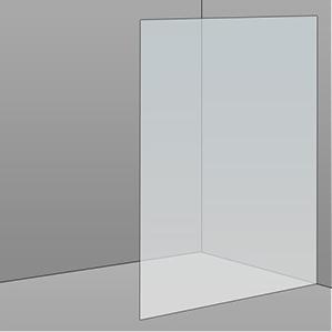 1100mm Frameless Glass Panel