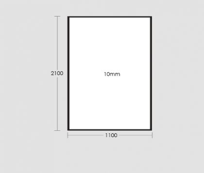 1100mm Frameless Glass Panel Tech