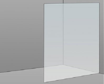 1100mm Frameless Glass Panel>