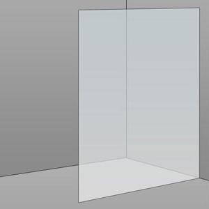 1200mm Frameless Glass Panel