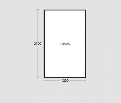 1200mm Frameless Glass Panel Tech