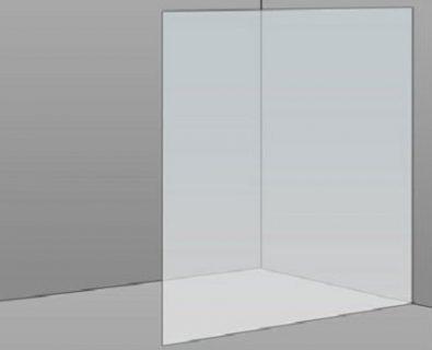 1200mm Frameless Glass Panel>