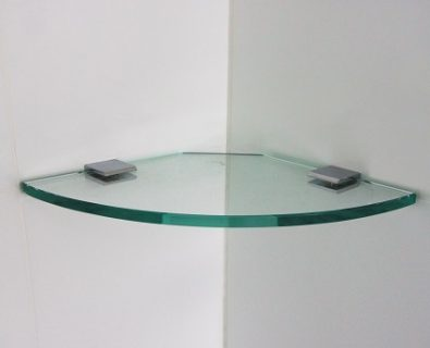 200x200mm Glass Corner Shelf>
