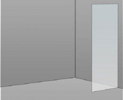 400mm Frameless Glass Panel>