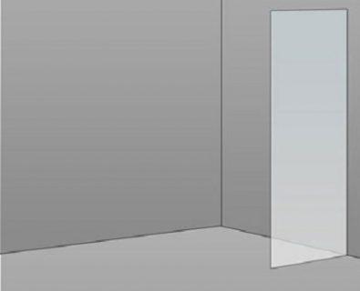 470mm Frameless Glass Panel>