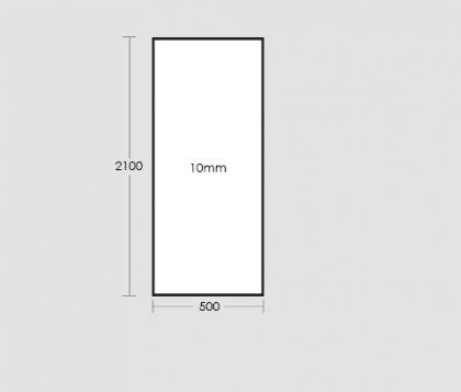 500mm Frameless Glass Panel Tech