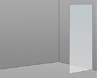 500mm Frameless Glass Panel>