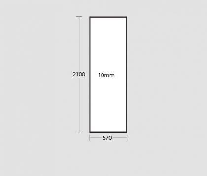 570mm Frameless Glass Panel Tech