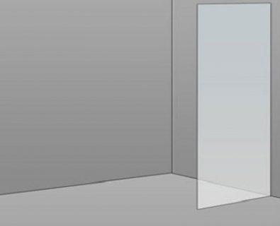 570mm Frameless Glass Panel>