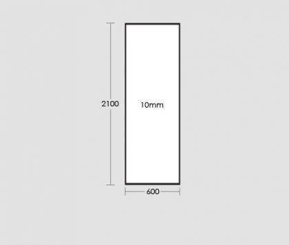 600mm Frameless Glass Panel Tech