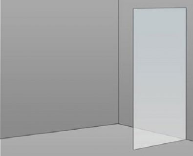 600mm Frameless Glass Panel>