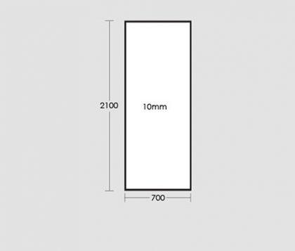 700mm Frameless Glass Panel Tech