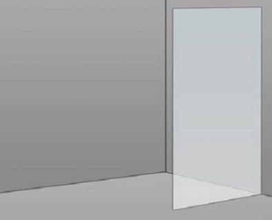 700mm Frameless Glass Panel>