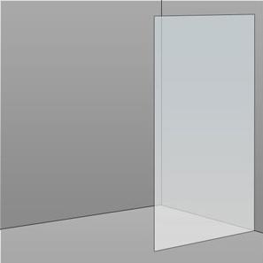 800mm Frameless Glass Panel