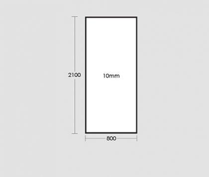 800mm Frameless Glass Panel Tech