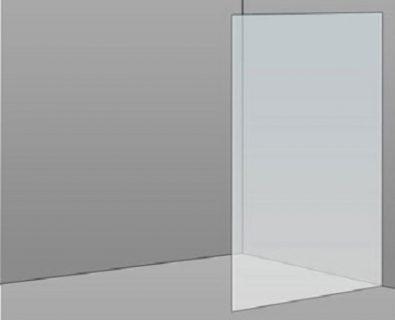 800mm Frameless Glass Panel>