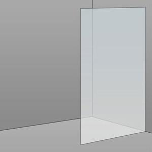 900mm Frameless Glass Panel