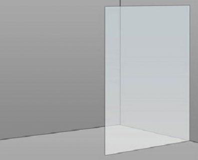 900mm Frameless Glass Panel>