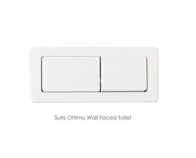 Rectangle Cistern Button (White)>