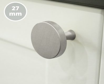 Oliver Vanity Round Handle 27mm (Brushed Nickel)>