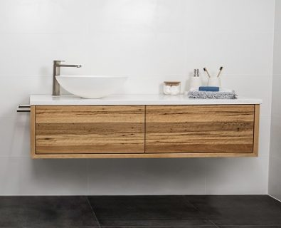 Jones & Jones Wall Mount Blackbutt Timber Vanity 1200mm – Customisable>