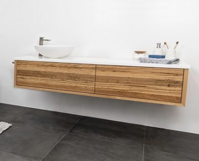 Jones & Jones Wall Mount Blackbutt Timber Vanity 1500mm – Customisable>