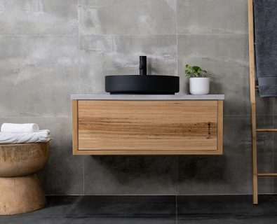 Jones & Jones Wall Mount Blackbutt Timber Vanity 750mm – Customisable>