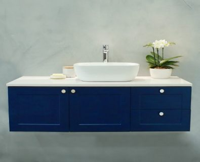 Oliver Wall Hung Vanity Cabinet 1200mm (Deep Blue)>