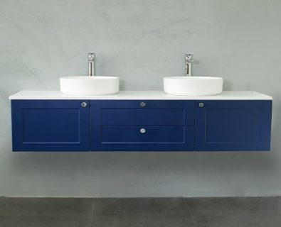 Oliver Wall Hung Vanity Cabinet 1500mm (Deep Blue)>