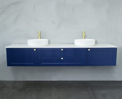 Oliver Wall Hung Vanity Cabinet 1800mm (Deep Blue)>