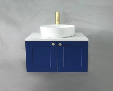 Oliver Wall Hung Vanity Cabinet 600mm (Deep Blue)>