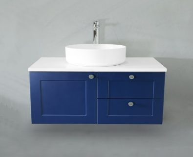 Oliver Wall Hung Vanity Cabinet 750mm (Deep Blue)>