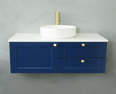 Oliver Wall Hung Vanity Cabinet 900mm (Deep Blue)>